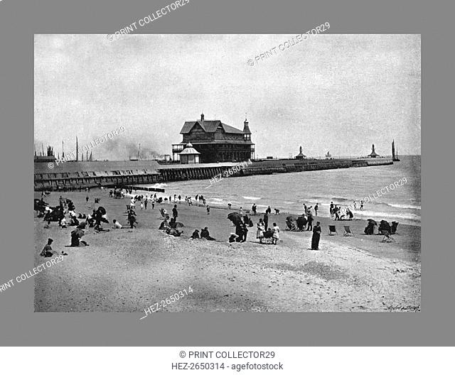 The Pier, Lowestoft, c1900. Artist: Walter Boughton