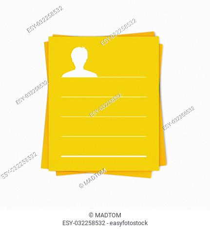 the blank info template with head silhouette