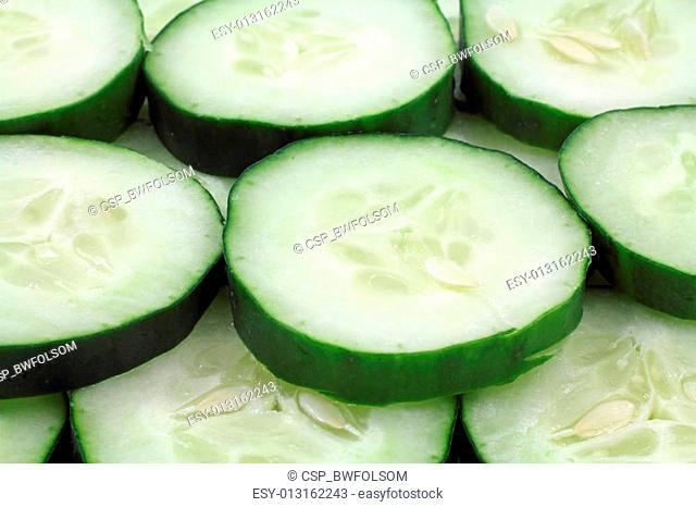 Organic sliced cucumbers