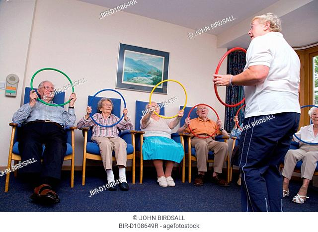 Group of Older People in a keep fit class