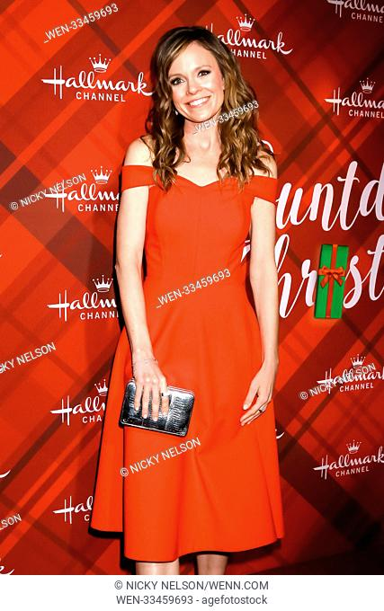 Hallmark's 'Christmas at Holly Lodge' screening at 189 The Grove Drive - Arrivals Featuring: Rachel Boston Where: Los Angeles, California