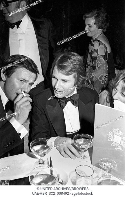Der deutsche Schauspieler Fritz Wepper bei den 25. Internationale Filmfestspiele Berlin 27. Juni - 08. Juli 1975, Deutschland 1970er Jahre