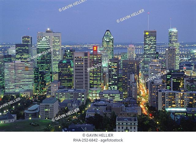 City skyline, Montreal, Quebec Province, Canada