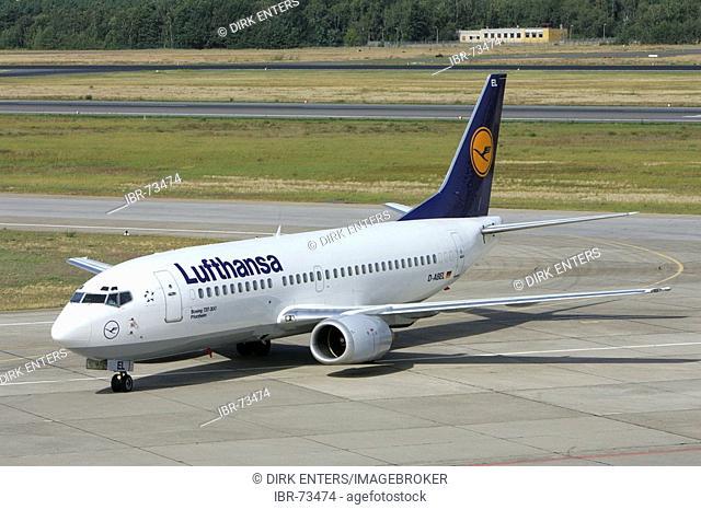 Lufthansa airplane at Tegel airport, Berlin, Germany, Europe
