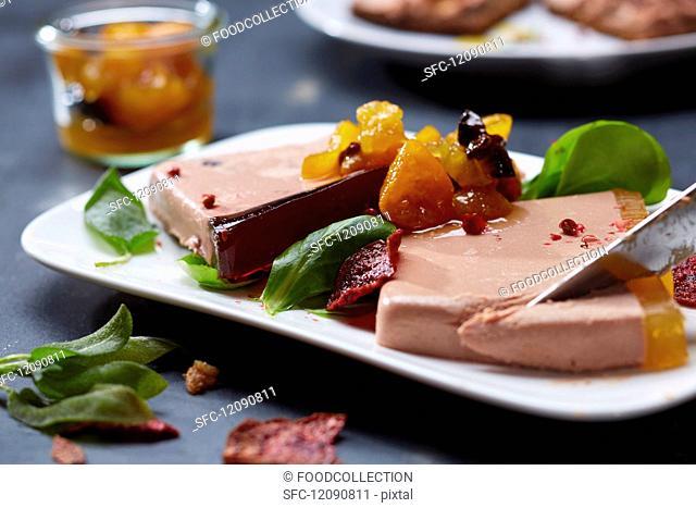 Slices of liver pâté