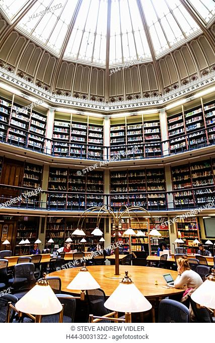 England, London, The City, King's College, The Maughan Library, The Round Reading Room
