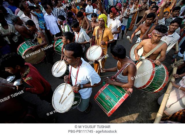 People from Hindu Matuya community dancing The Matuya are found in Bangladesh and West Bengal Their principal temple is at Orakandi in Gopalganj