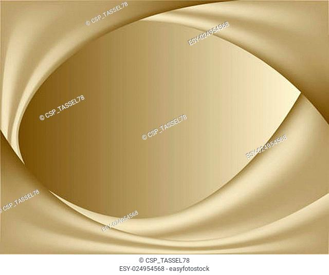 abstract gold background. wavy folds of silk