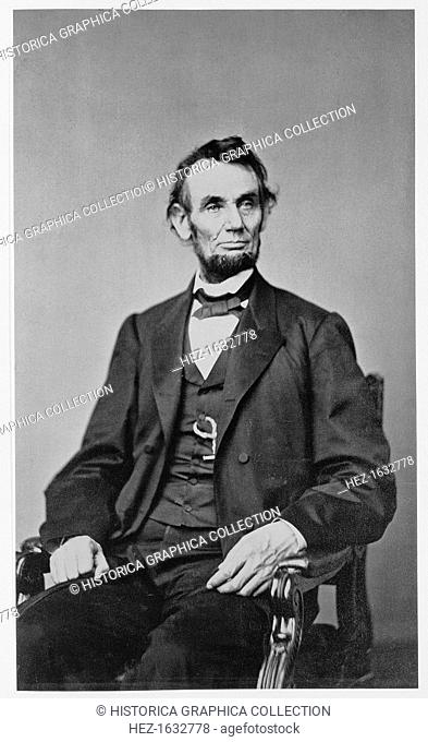 Abraham Lincoln, 16th President of the United States, 1860s. Lincoln (1809-1865) joined the Republican party in 1858 and was elected president two years later