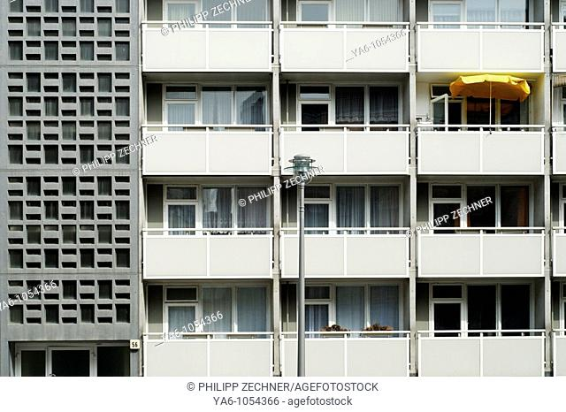 Apartment blocks in the former Eastern part of Berlin, Germany 2008