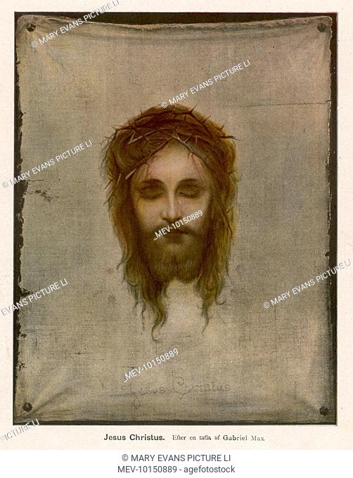 JESUS OF NAZARETH wearing the crown of thorns placed on his head by the Roman soldiers