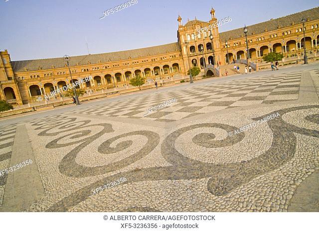 Plaza de España, Spain Square, María Luisa Park, Sevilla, Andalucía, Spain, Europe