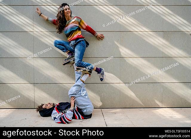 Couple of dancers on a wall