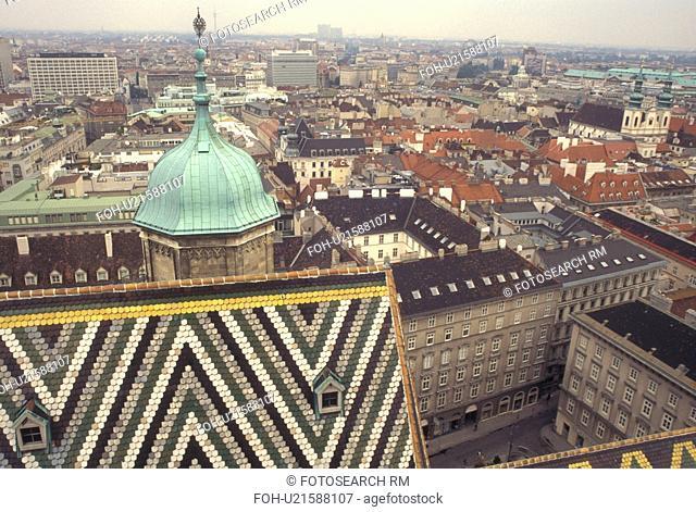 Vienna, Austria, Wien, Aerial view of Vienna