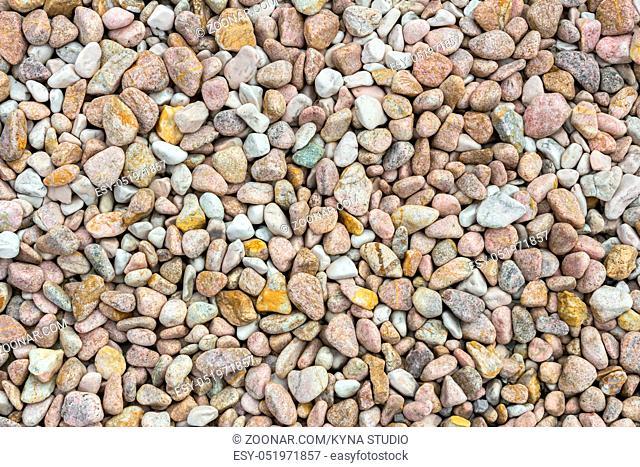 Small stones gravel texture background