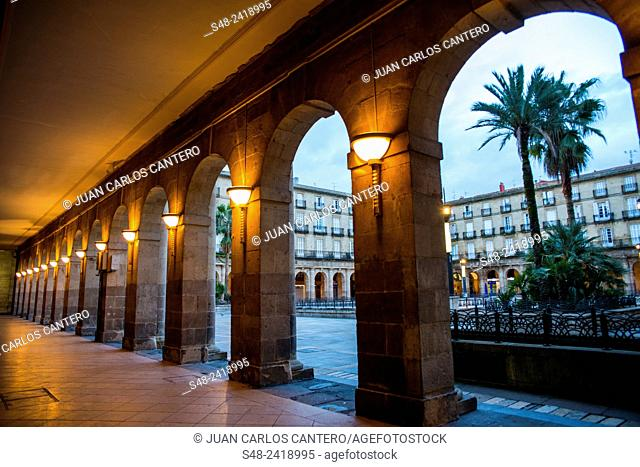 Plaza nueva de Bilbao. Vizcaya. Basque Country. España. Europa