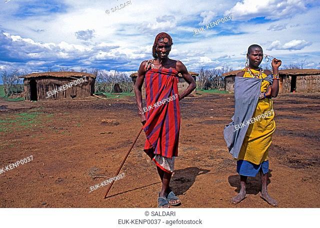 Maasai Couple,Kenya