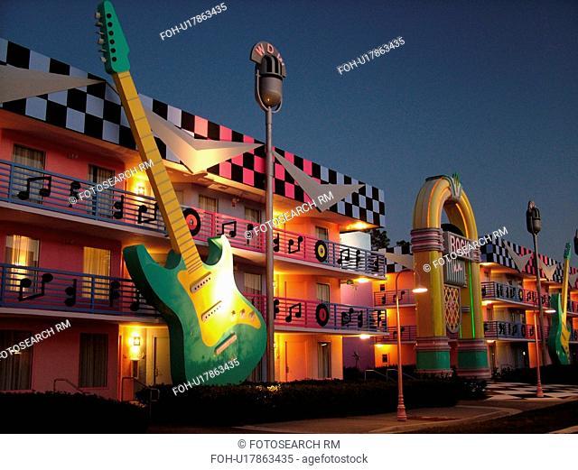 Orlando, FL, Florida, Lake Buena Vista, Disney's All-Star Movie Resort, evening, Toy Story