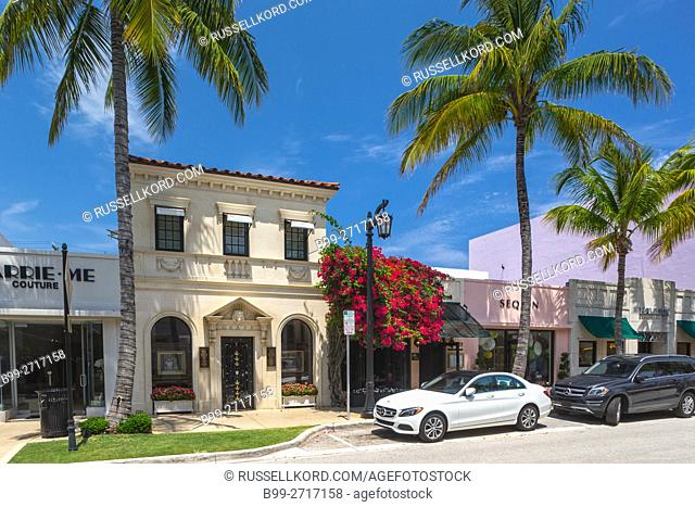 LUXURY BOUTIQUES WORTH AVENUE PALM BEACH FLORIDA USA