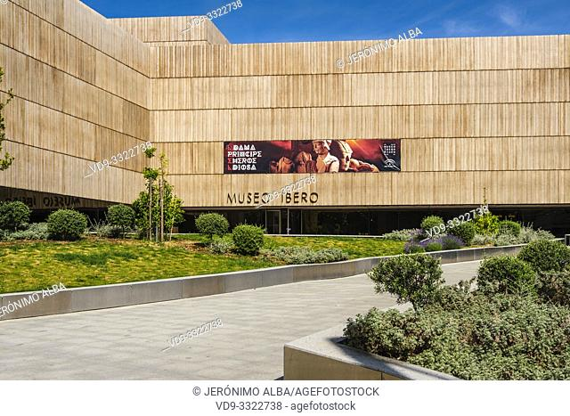 Exterior view The Iberian Museum. Jaén, southern Andalusia. Spain Europe