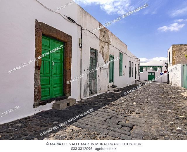 Typical street in TeguiseLanzarote. Canary Islands. Spain. Europe