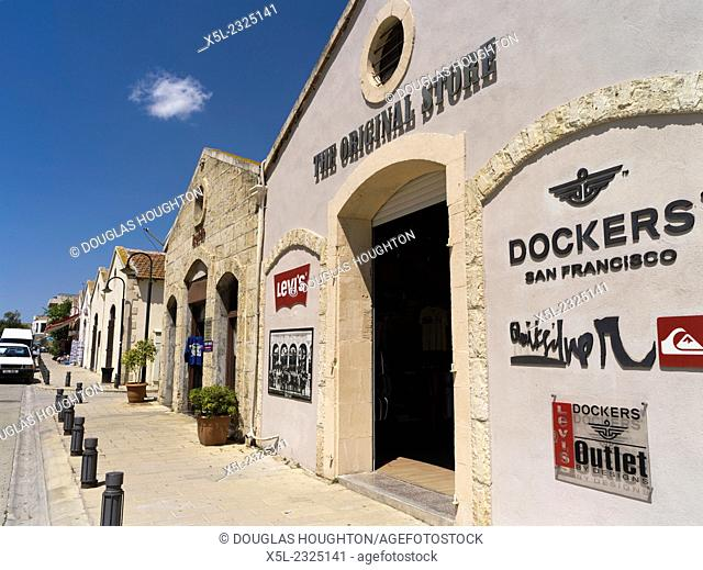 Old Town FAMAGUSTA NORTHERN CYPRUS Tourist jeans shop Old town
