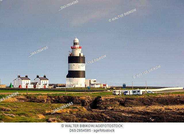 Ireland, County Wexford, Hook Peninsula, Hook Head, Hook Head LIghthouse, sunset
