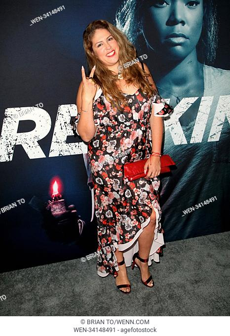Celebrities attend 'Breaking In' film premiere at Arclight Hollywood. Featuring: Lizza Monet Morales Where: Los Angeles, California