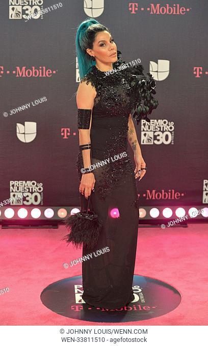 Arrivals for Univision's 30th Edition of Premio Lo Nuestro A La Musica Latina, held at the American Airlines Arena in Miami, Florida