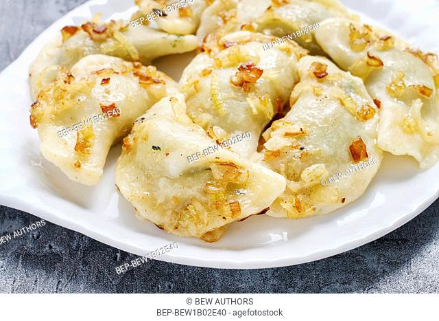 Traditional polish dumplings. Polish appetizer