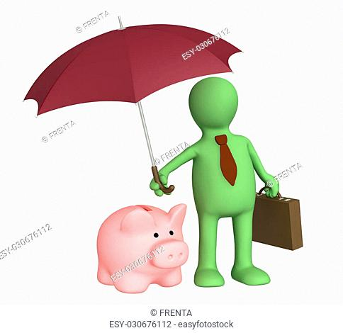 Conceptual image - insurance of bank contributions