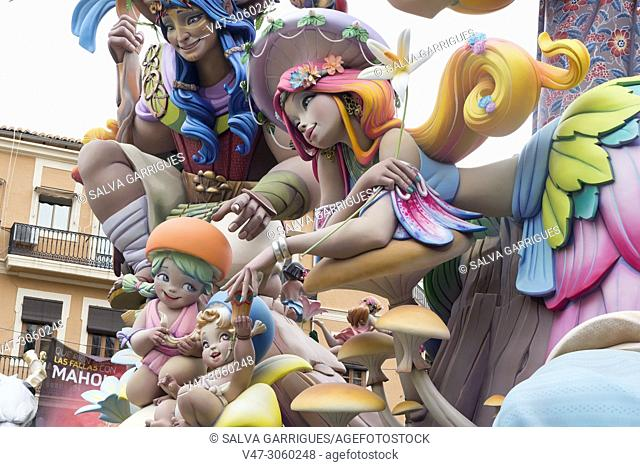 Detail of the dolls of the Falla Convento Jerusalen