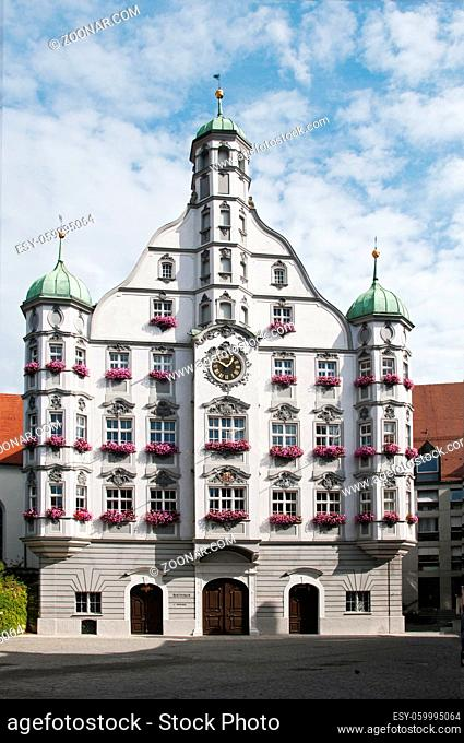 parlement building in german city of Memmingen