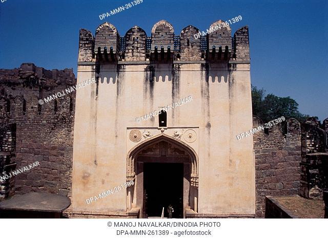 Gate of Bala Hissar, Golconda fort, Hyderabad, Andhra Pradesh, India