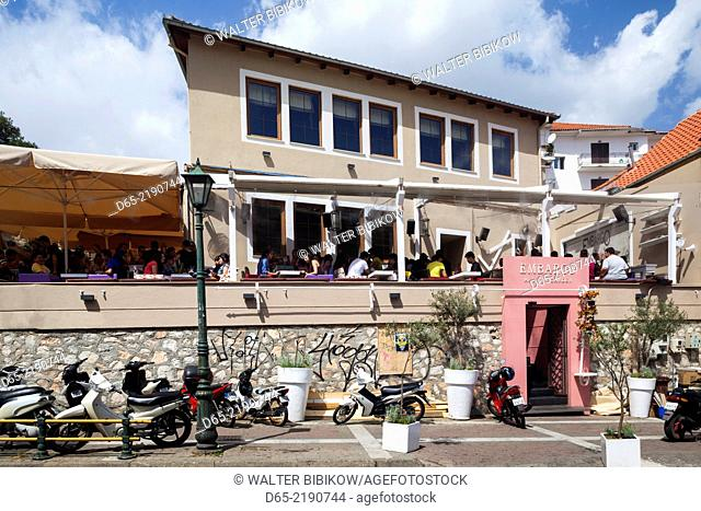 Greece, East Macedonia and Thrace Region, Xanthi, exterior of the Embargo bar