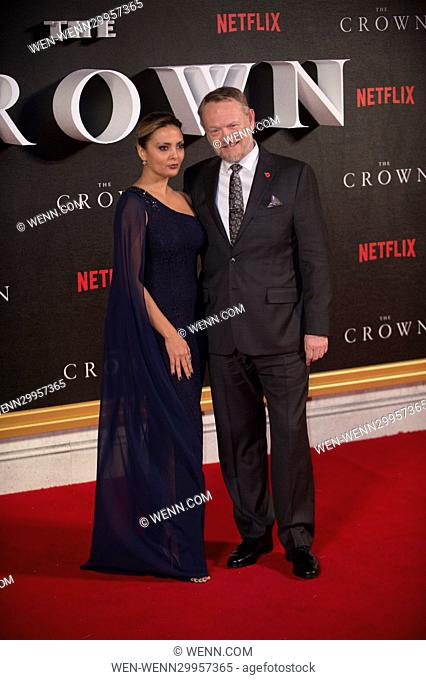 World Premiere of new Netflix Original series 'The Crown' at Odeon Leicester Square Featuring: Allegra Riggio and Jared Harris Where: London