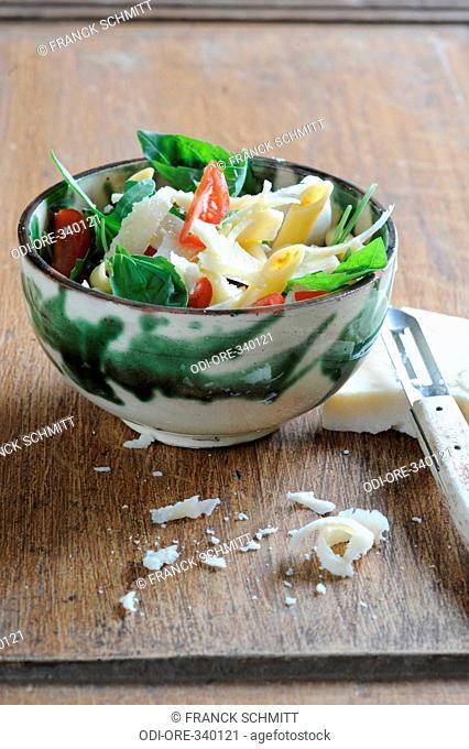 Penne and parmesan salad