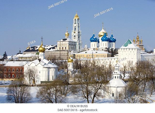 Russia - Golden Ring - Sergiev-Posad. Trinity Sergius Lavra (Troitse-Sergiyeva Lavra, founded in 14th century, UNESCO World Heritage List, 1993)