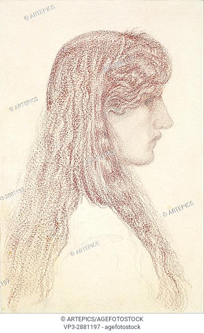 Edward Burne-Jones - Maria Zambaco - Profile Study - Birmingham Museum and Art Gallery