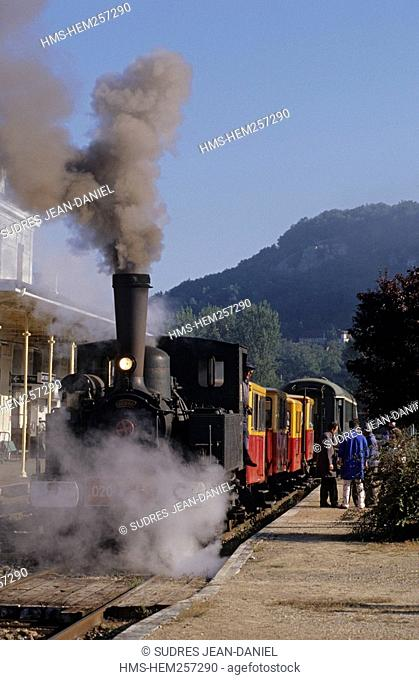 France, Lot, Saint Denis Pres Martel, tourist railway of North Quercy