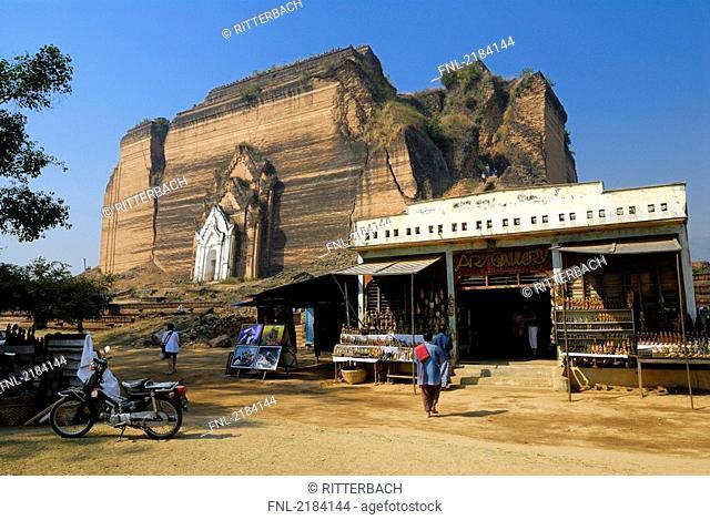 Store near ruins of pagoda, Mingun Pagoda, Mingun, Sagaing Division, Myanmar