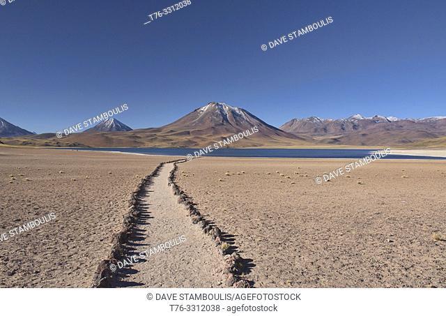 Beautiful Lake Miscanti on the altiplano, Atacama Desert, Chile