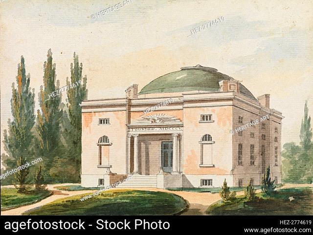 The Pennsylvania Academy of the Fine Arts, Philadelphia (Copy after an Engraving.., 1811-ca. 1813. Creator: Pavel Petrovic Svin'in