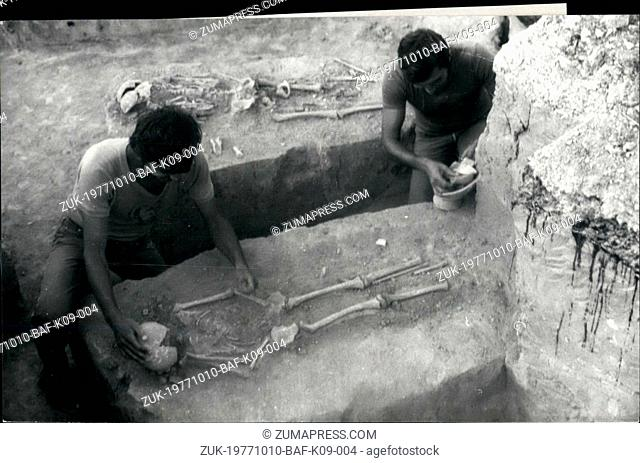 Oct. 10, 1977 - New Archaeological discoveries on the old land of Dobrodja in Rumania: Enisala, in the district of Tulcea