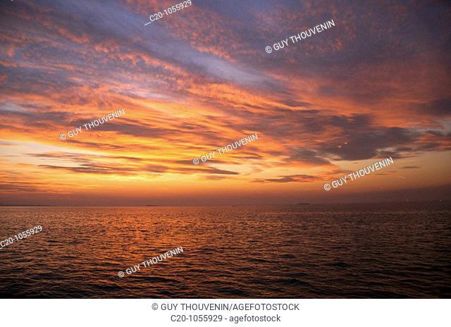 Sunset on the laguna ,Venice, Italy