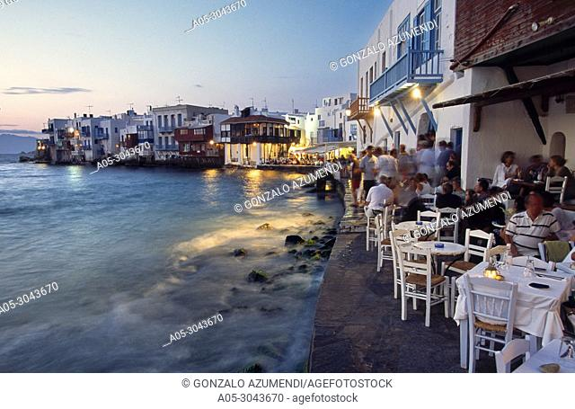 Little Venice. Mykonos Town. Chora. Mykonos Island. Ciclades Islands. Greece