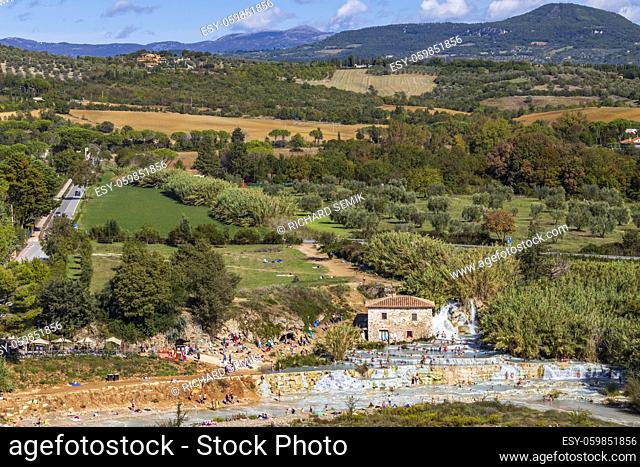 Cascate del Mulino, Saturnia, Tuscany, Italy