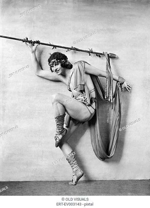 Portrait of male dancer in costume All persons depicted are not longer living and no estate exists Supplier warranties that there will be no model release...