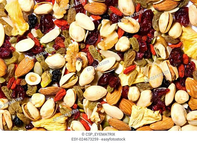 Fruit and Nut Background