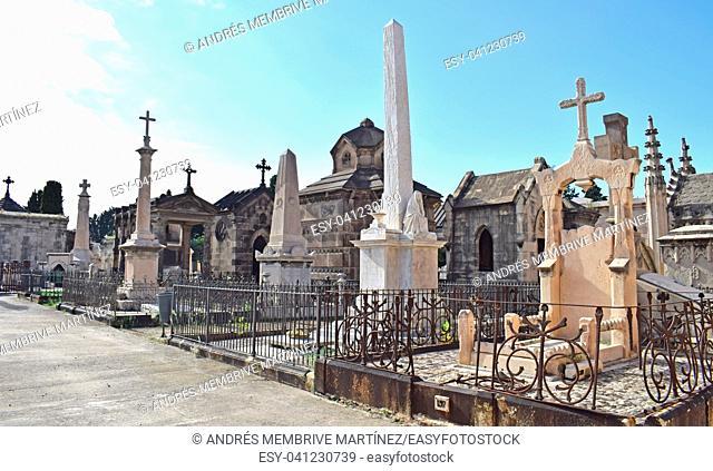 Cemetery of Pueblo Nuevo in Barcelona